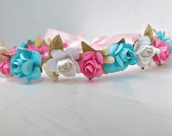 Flower Crown, Newborn Crown, Infant Flower Crown, Baby Flower Crown, Baby Headband, Newborn Headband, Infant Headband, Baby Girl Headband