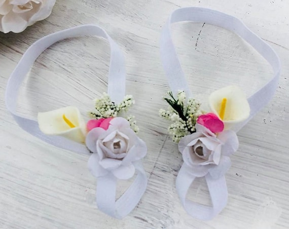 White Barefoot Sandals, Barefoot Sandals Baby, Barefoot Baby Sandals, Flower Baby Sandal, Baby Barefoot Sandals, Barefoot Sandals For Babies