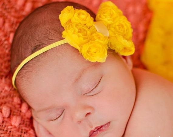 Baby Headband, Headbands Baby Girl, Headband Newborn, Headband Unicorn, Infant, Headbands, Wedding Headband, Yellow Baby Headband