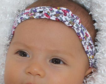 Baby Headband- Floral Baby Headband - Newborn Baby Shower Gift - Knotted Headband - Infant Turban - Floral BabyHeadband - Gifts for Baby