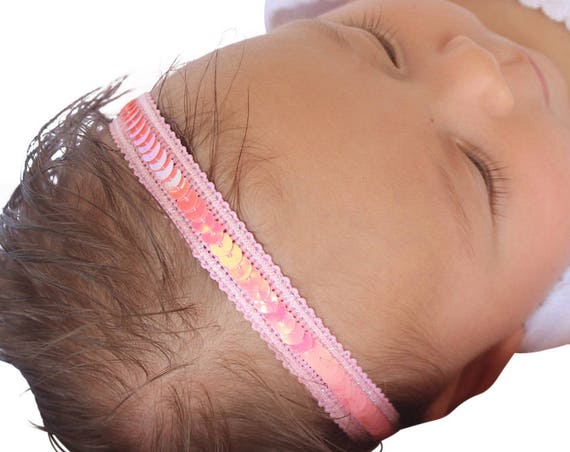 Pink Headband, Halo Headband, Baby Headband, Newborn Headband, Baby Girl Headband, Baby Headbands, Toddler Headband, Infant Headband