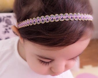 Purple Headband, Summer Headband, Spring Headband, Headband for Newborn, Perfect for Newborn, Infant Headbands, Lilac Headpiece