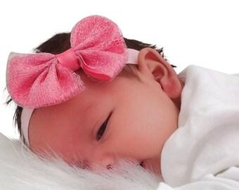Baby Headband, Pink Headband, Bow Headband, Toddler Headband, Infant Headbands, Newborn Headband, Baby Headband, Spring Headband