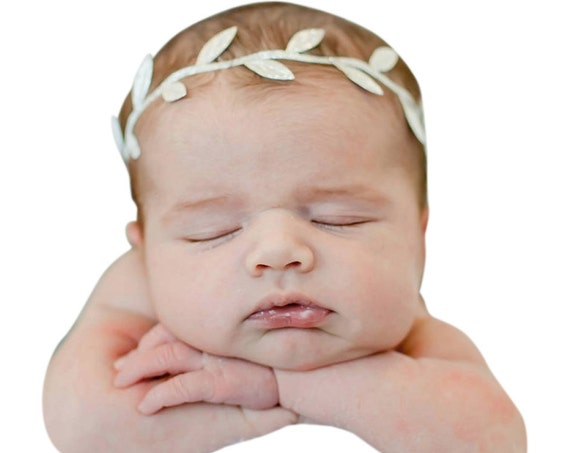 Grecian Baby Headbands, Gold headband, Baby Shower Headband, Greek Headband, Baby Girl Headband, Gold Leaf Crown, Infant Headbands