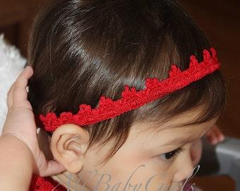 Christmas Headband, Red Baby Crown, Red Tiara, Girls Tiara, Birthday Girls Crown, Crown for Girls, Birthday Crown, Headband for Newborn