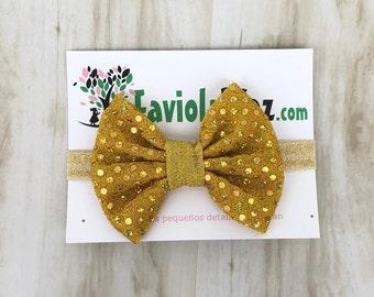 Baby Bow Headband, Sequin Headband, Gold Baby Headband, Baby Bows, Bow Headband, Newborn Headband, Headband, Headband Bow, Baby Accessories