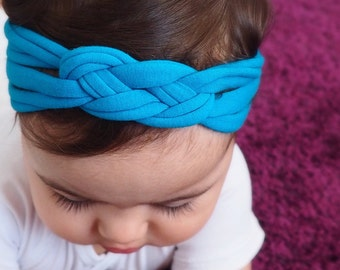 Infant Headbands, Blue Headband, Celtic Knot Headband, Sailor's Knot, Hair Wrap, Baby Headband, Newborn Headband, Baby Head Wrap