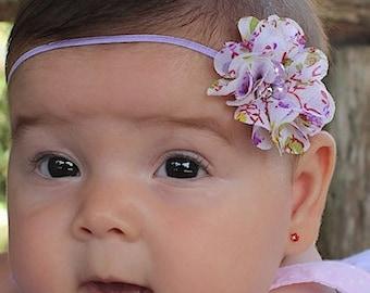 Lilac headband, Flower Baby Headband, Infant Headband, Lilac Baby Headband, Newborn Headband, Flower Headband, Headband for Babies