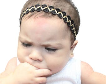 Black HeadbandBlack Headband, Halo Headband, Black Halo Headband, Black Baby Headband, Black Headband Baby, Baby Headband, Infant Headbands
