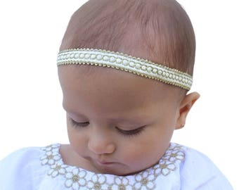 Baby Headband, Gold Headband, Infant Headbands, Halo Headband, Baby Headband, Christening Headband, Baptism Headband