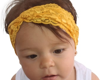Mustard Headband, Yellow Headband, Turbans, Soft Headband, Very soft Headband, Adult Turban Headband, Twisted Headband