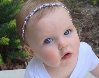 Braided Headband, Suede Headband, Purple Headband, Infant Headbands, Gray Headband, Pearls Headband, Baby Headpiece, Braided Headband,