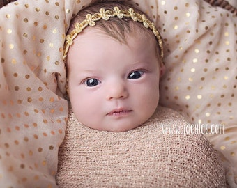 Halo Headband, Gold Headband, Infant Headbands, Baby Headband, Gold Baby Headband, Infant Headbands, Gold Infant Headband, Baptism Headband
