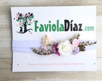 Flowers Headbands, White Headband, Newborn Headband, Baby Headband, Vintage Headband, Newborn Headbands, Baby Shower, Handmade Headband