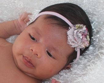Pink Baby Headband, Flower Headband, Baby Headband, Flower Girl Headband, Infant Headbands, Newborn Headband, Baby Headpiece