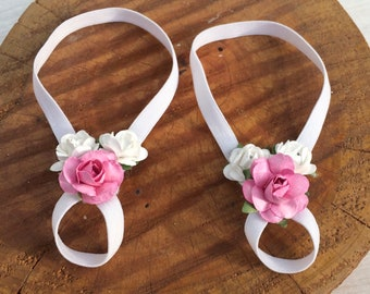 Baby Sandals, Flowers Sandals, Pink Barefoot Sandals, Barefoot Baby Sandals, Baby Barefoot Sandals, Baby Accessories, Sandals For Babies