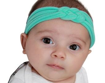 Mint Knot Headband, Baby Headband, Turban Headband, Baby Headband, Knot Headband Adult, Knot Headband Baby, Baby Girl Headband, Baby Gifts
