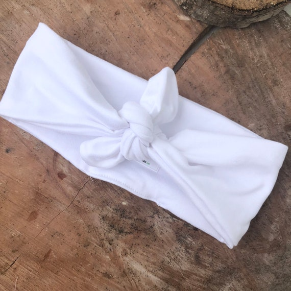 Knot Baby Headband, Baby White Headband, Knot Headband, Baby Headwrap, Newborn Headband, White Headwrap, Infant Headband, Toddler Headband