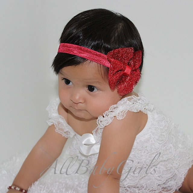 Christmas Headband For Baby Girl.Christmas Headband Red Bow Headband Baby Girl Headband