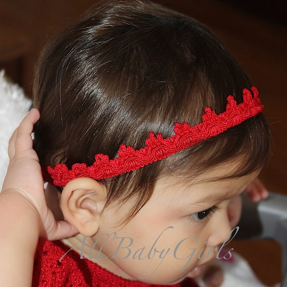 Christmas Headband, Red Baby Crown, Red Tiara, Girls Tiara, Birthday Girls Crown, Crown for Girls, Birthday Crown, Headband for Newborn