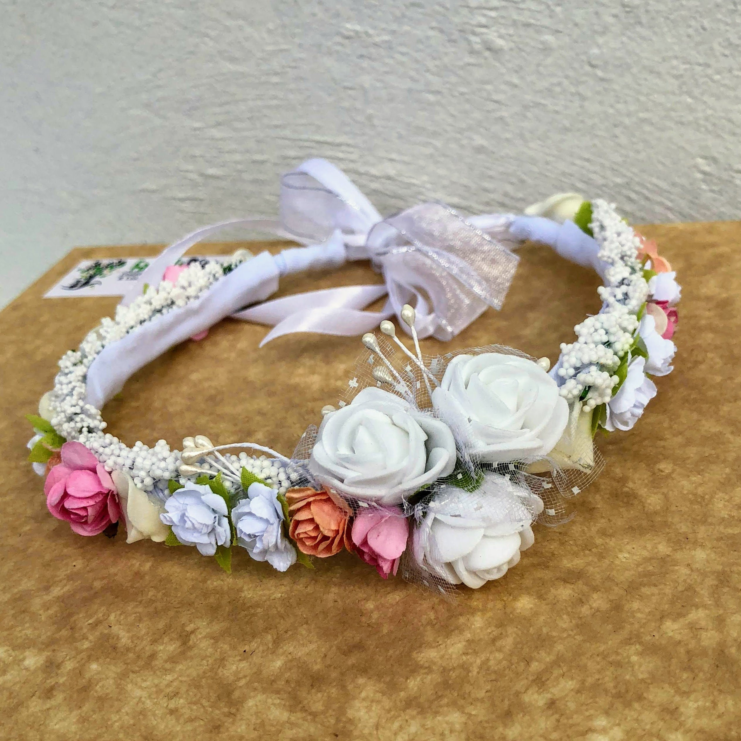 Flower Crown Newborn Crown Infant Flower Crown Baby Flower Crown