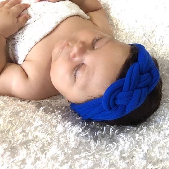 Knot Baby Headband, Baby Turban, Blue Headband, Turban, Handmade Turban, Blue turban, Braided Headband, Newborn Headband, Baby Headband