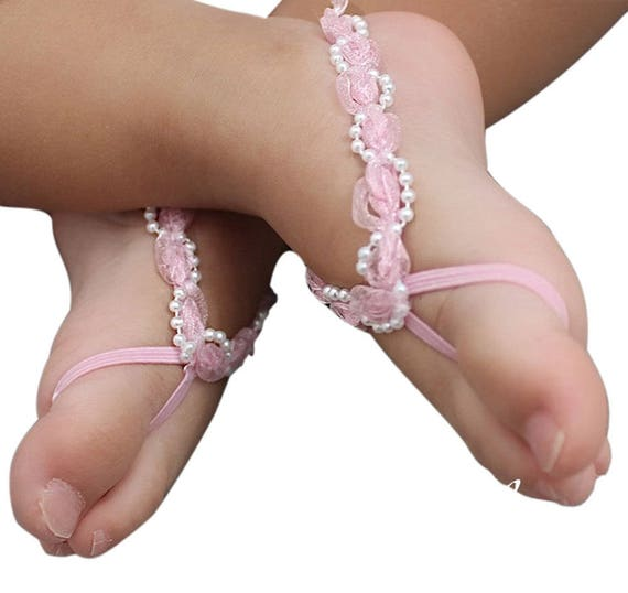 Pink Baby Sandals, Barefoot Sandals, Baby Sandals, Infant Sandals, Baby Barefoot, Sandals For Babies, Baby Accessories, Sandals for Girls