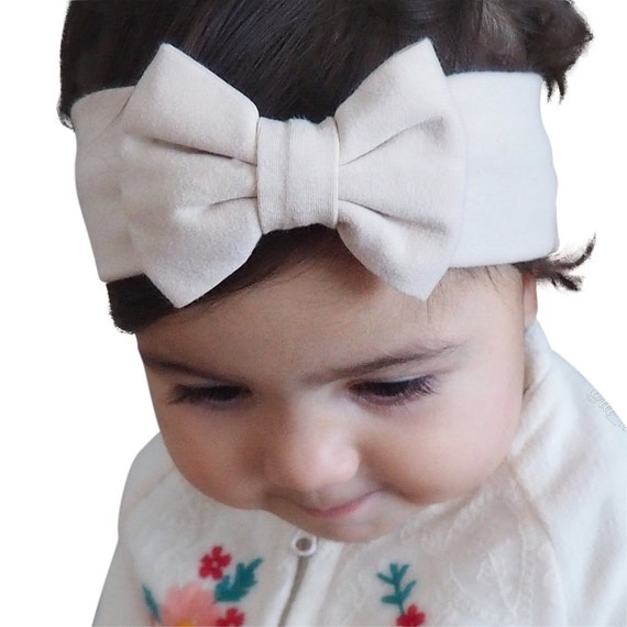 Beige Headband, Baby bows, Bow Headbands, headbands and bows, Baby Bow Headband, Baby Headband, baby girl outfits, baby girl