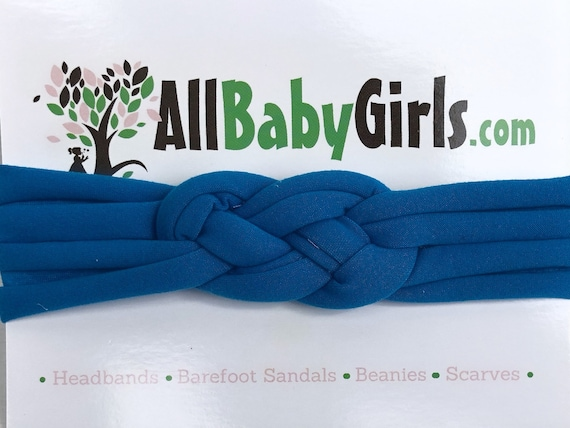 Knot Headband, Blue Headband, Baby HeadWrap, Blue Turban, Celtic Knot Headband, Sailor's Knot, Hair Wrap, Baby Headband, Baby Head Wrap