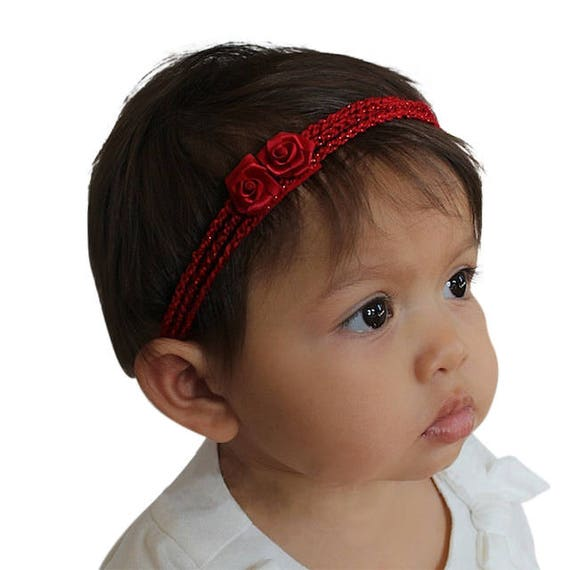 Christmas Headband For Baby Girl.Christmas Headband Red Baby Headband Crochet Headband Baby Girl Headband Baby Headband Red Headband Flower Headband Newborn Headband