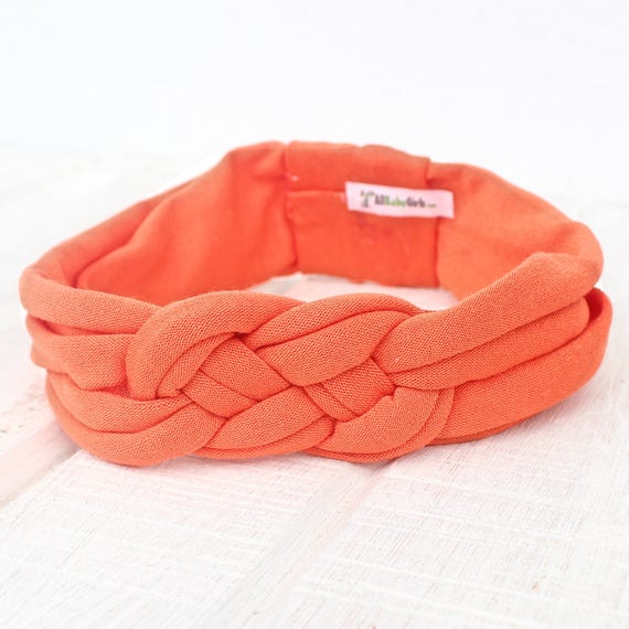 Orange Knot Headband,  Knotted Headband, Knot Baby Headband, Baby Headbands, Infant Headband, Toddler Headband, Solid Color Headband