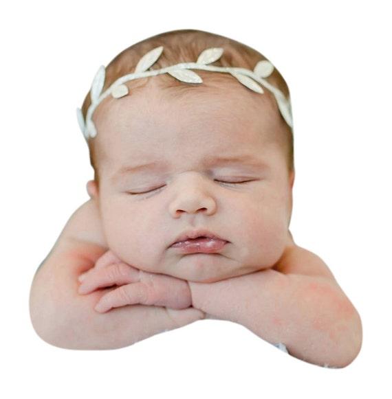 Grecian Baby Headbands, Gold headband, Baby Shower Headband, Greek Headband, Baby Girl Headband, Gold Leaf Crown, Infant Headbands