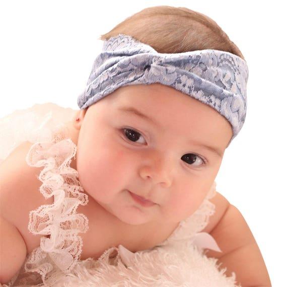 Baby Headband - Blue Headband - Baby Turban Headband - Baby Girl Headwrap - Baby Headwrap - Toddler Headband - Turban Headband