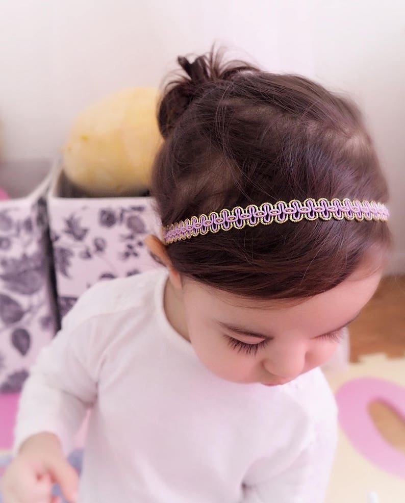 Summer Headband Infant Headbands Perfect for Newborn Spring Headband Headband for Newborn Lilac Headpiece Purple Headband