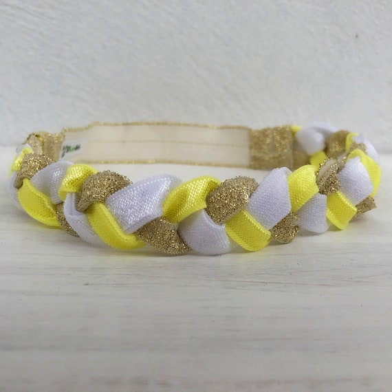 Yellow Baby Headband, Yellow Headband, Gold Headband, White Baby Headband, Handmade Headband, Headband for Girls, Infanta Headband