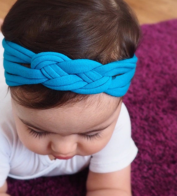 Infant Headbands, Blue Headband, Celtic Knot Headband, Sailor's Knot, Hair Wrap, Baby Headband, Newborn Headband, Baby Head Wrap