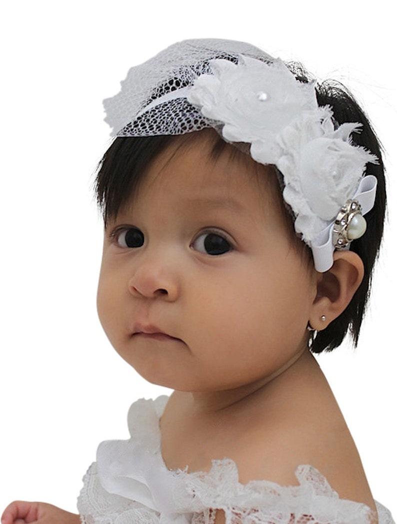 5ee12c61a78364 Taufe Stirnband Taufe Stirnband Baby Stirnband | Etsy