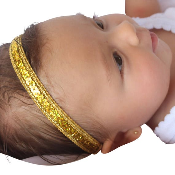 Gold Headband, Christmas Headband, Baby Headband, Infant Headband, Baby newborn Headband