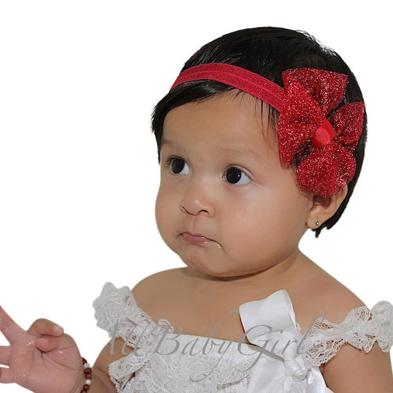 Christmas Headband For Baby Girl.Christmas Headband Red Bow Headband Baby Girl Headband Red Headband Bow Headband Newborn Headband Infant Headbands Baby Accessories