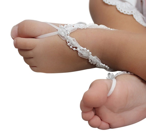 Baptism Sandals, Barefoot Sandals, White Baby Sandals, Baby Sandals, Baby Shoes, Baby White Shoes, Barefoot Sandals For Babies