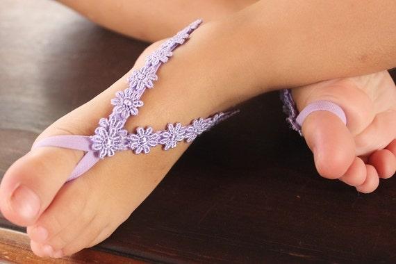 Newborn Sandals, SPRING SANDALS, Sandals Baby, Barefoot Sandals, Baby Sandals, Beach Sandals, Lilac Baby Sandals, Pies Descalzos.