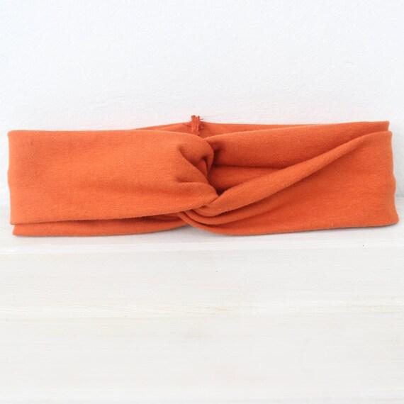 Orange Turban, Baby Headwrap, Baby Headband, Twist Headband, Orange Headband, Adult Turban, Adult Headband, Orange Turban