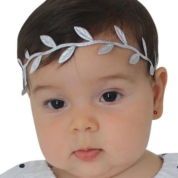 Silver Headband Braided Headband Halo Headband Silver Headband Baby Baby Headband Infant Headband Baptism Headband Toddler Headband