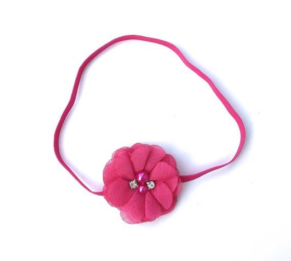 Hot Pink Headband, Headbands, Easter Headband, Flower Headband, Baby Headband Baby, Headbands, Newborn Headband