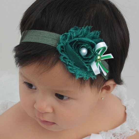 flower headband baby, flower headband toddler flower, baby headband, flower headband women, Green Headband, baby headband set