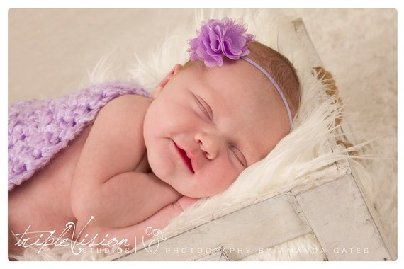 Lilac Headbands, Newborn Headband, Baby Headband, Purple Headband, Baby Girl Headband, Infant Headband, Toddler Headband, headband baby