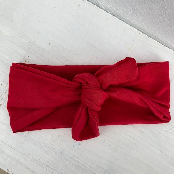 Red Baby Headband, Red Headband, Red Turban Headband, Baby Headband, Baby Headband, Baby Girl Headband, Knot Headband, Infant Headbands