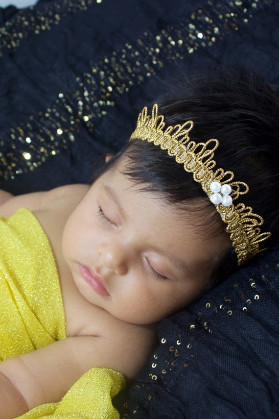 Baby Crown, Gold Crown, Baby Headband, Toddler Crown, Baby Girls Crown, Infant Crown, Crown for Babies, Birthday Crown, Crown Baby girls