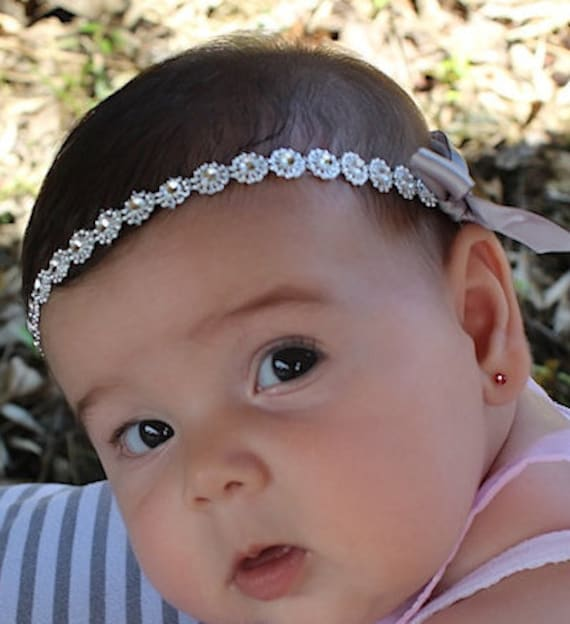 Silver Baby Headband Headband Baby Halo Headband Infant  eadbb16bcae