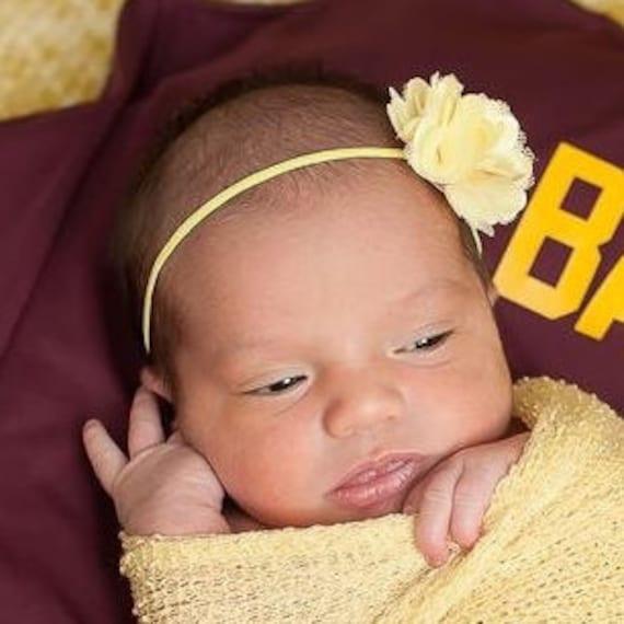 Headband for Newborn, Baby headband, Flower Headband, Baby Girl Headband, Baby Girls, Newborn headbands, Yellow Headband, baby shower gift